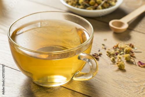 Staande foto Thee Hot Relaxing Chamomile Tea