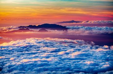 Obraz na Szklehaleakala sunset