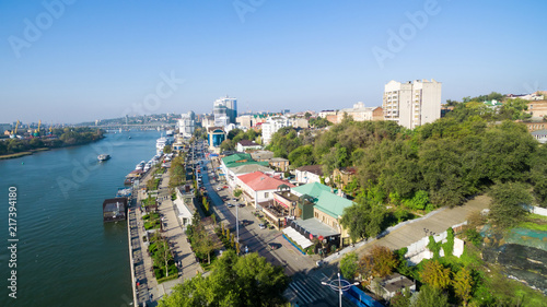Canvas Prints Ship Aerial view to embankment of Rostov-on-Don. Russia