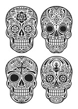 Day Of The Dead Skull Vector I...