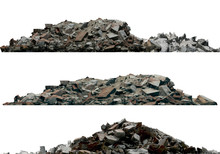 Heaps Of Rubble And Debris Iso...