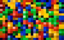 Banner Color Pixel Background. Vintage Color Poster, Great Design For Any Purposes. Color Mosaic Texture. Decoration Mosaic Tile. Color Halftone Background. Vector RGB Halftone. Pixel Game Background.