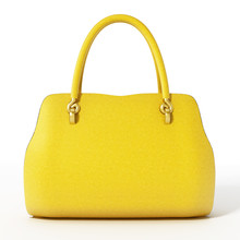 Yellow Handbag Isolated On Whi...