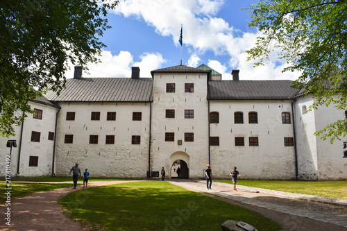 Turku Castle's bailey on a beautiful, sunny day in summer Poster