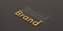 Gold Word Brand On Black Backg...