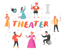 Theater Actor Characters Set. ...