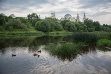 Ancient Monastery In Theprovincial Russian Town Of Torzhok