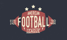 Football League Logo. American...