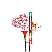 Music Colorful Background With...