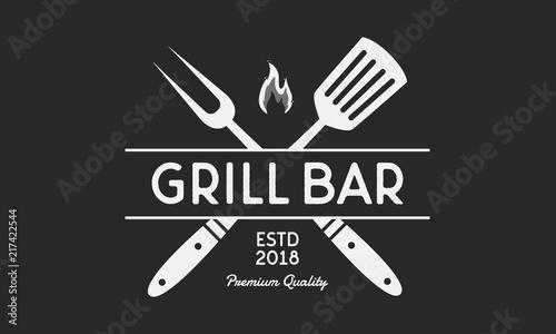 Fotografia Vector logo of Grill