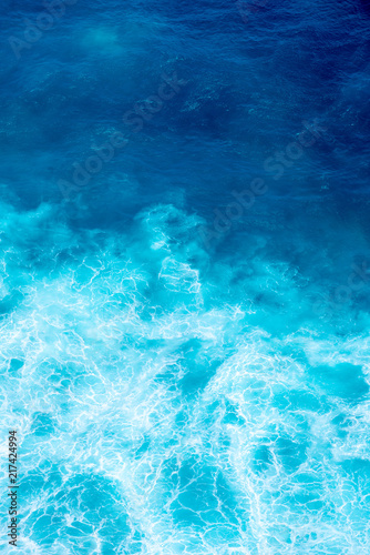 Pattern of Ariel view waves Canvas Print