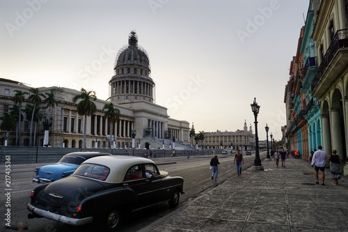 Poster Havana Capitol in Havanna, Kolonialstadt - Kuba