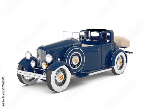 model-3d-samochodu-retro