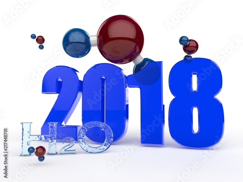 Image 2018 The Text Of Water And Many Molecules On