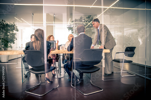 Businesspeople in a office Wallpaper Mural
