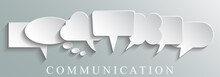 White Icons Communication Conc...