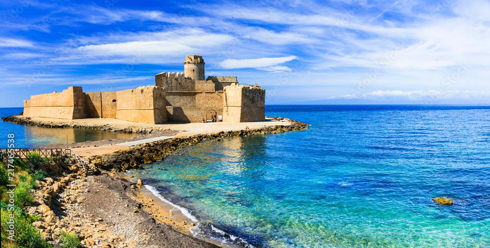 Fototapety, obrazy: Le Castella .Isola di Capo Rizzuto - amazing castle and beautiful sea in Calabria, Italy