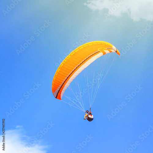 Sport paragliding extreme fly
