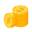 Isometric Pile Of Coin Icon