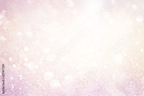 Photographie pale pink glittering christmas lights