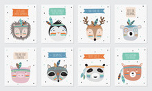Vector Collection Of Postcards...