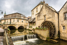 Old French Watermill In Bayeux, France