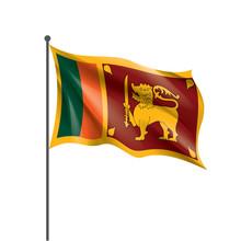 Sri Lanka Flag, Vector Illustr...