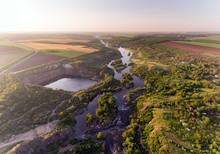 The Southern Bug River. Pictur...