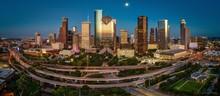 Houston, Texas Skyline At Dusk