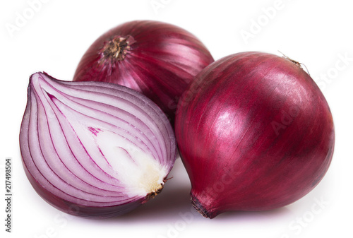 Fresh onion on white background