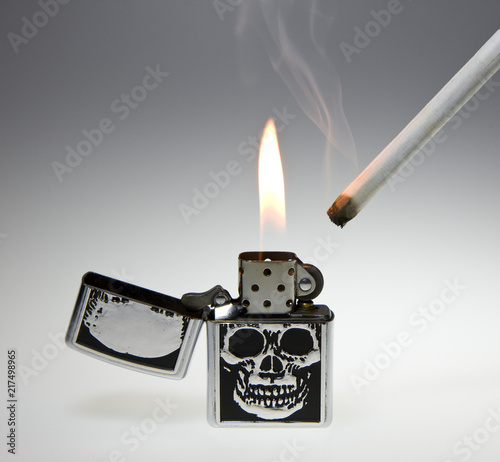 lighter and cigarette