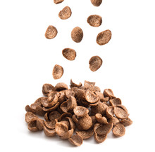 Chocolate Cereals Falling Isol...