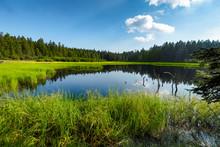 Crno Jezero Or Black Lake, A Popular Hiking Destination On Pohorje, Slovenia