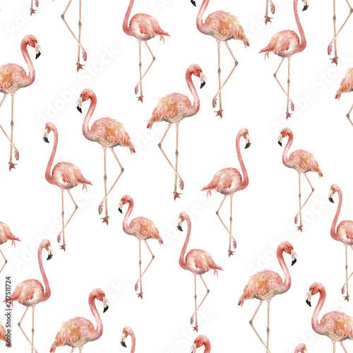 Canvas Prints Flamingo Bird Watercolor flamingo pattern