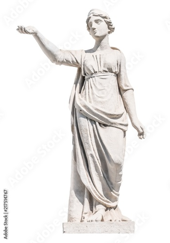 sculpture of the ancient Greek god Latona isolate Fototapeta