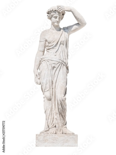 Photo sculpture of the ancient Greek god Ceres isolate