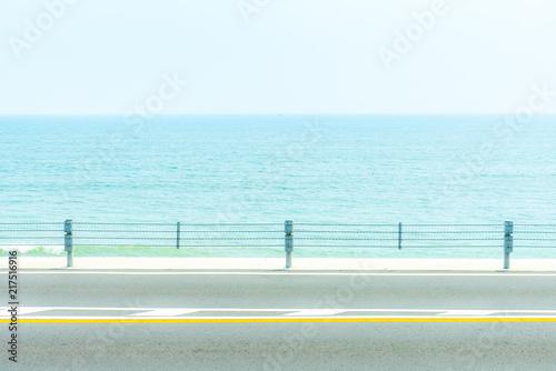 Poster Lichtblauw 海が見える風景