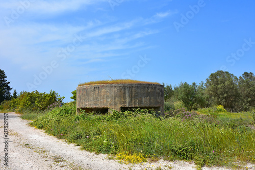 Poster Monument Italy, Otranto, abandoned bunker of the last war