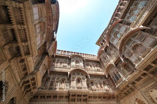 Papiers peints Fortification Mehrangarh fort at Jodhpur, Rajasthan, India. An UNESCO World heritage.