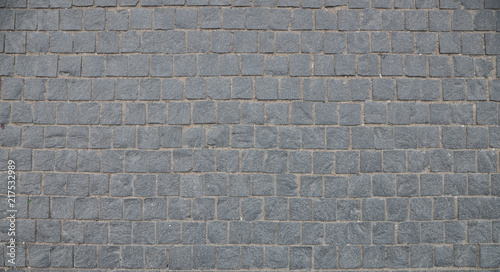 Old cobblestone pavement close-up. Canvas Print