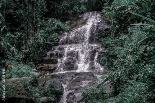 Poster Watervallen Nature Green Waterfall