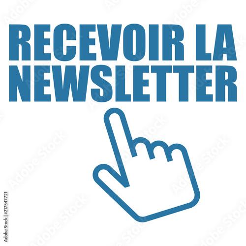 Fotografija  Logo recevoir la newsletter.