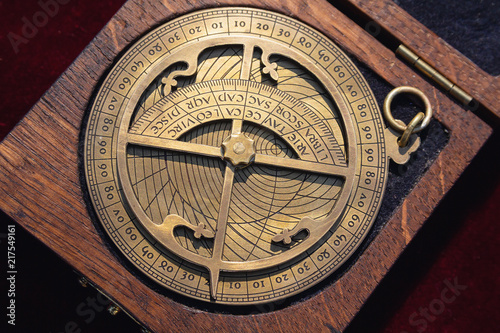 Replica of a medieval astrolabe which is a navigation instrument