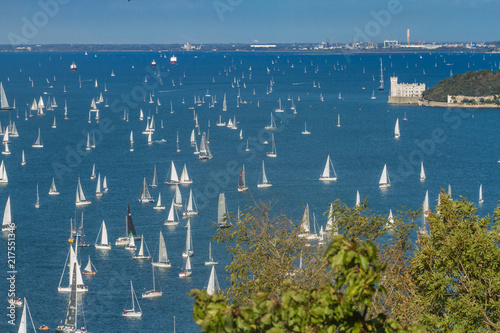 Papel de parede Trieste, Italy - Europe - October, 8th, 2017 - More than 2100 vessels are racing during the 49th Barcolana Regatta on the Adriatic Sea