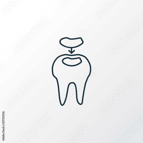 Dental fillings icon line symbol Canvas Print