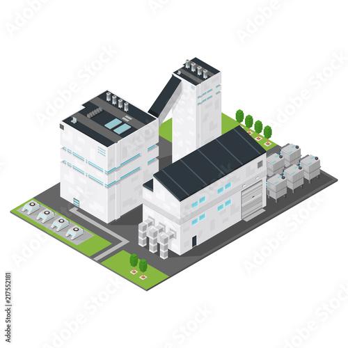 Photo Isometric Factory Power Station