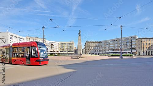 Fototapeta Łódź, Poland - view of Freedom Square obraz