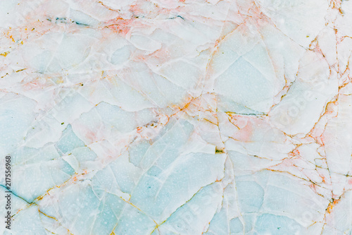 Canvas Print Real natural blue marble stone and surface background.