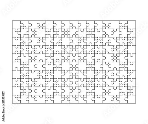 150 White Puzzles Pieces Arranged In A Rectangle Shape Jigsaw