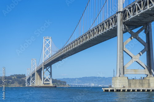 Foto op Plexiglas Brug Famous Oakland Bay Suspension Bridge in San Francisco, California, USA.